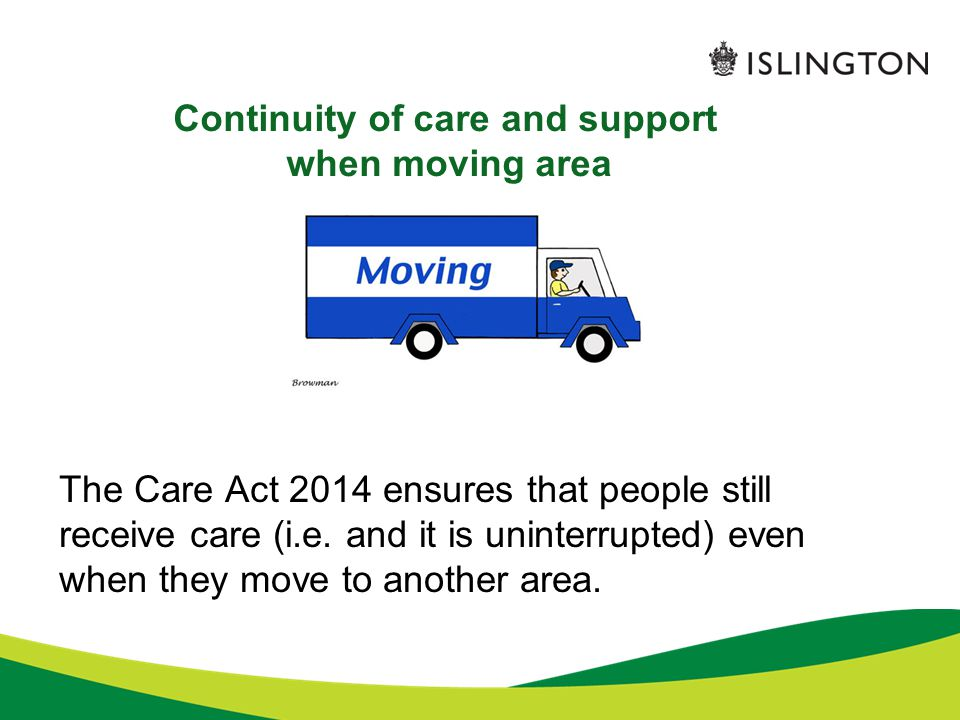 Continuity of care and support when moving area