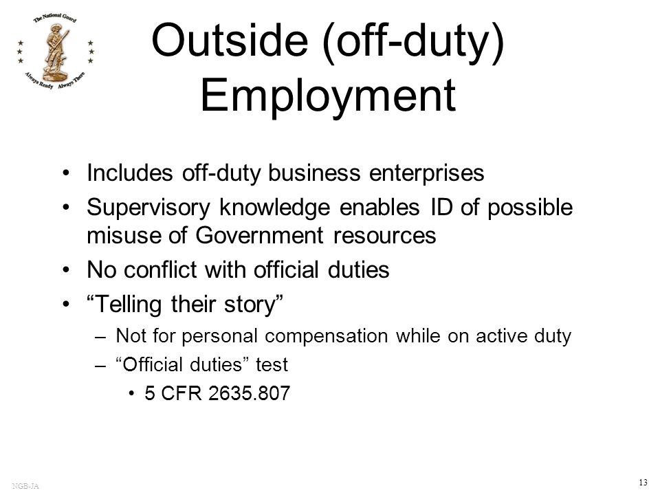Outside (off-duty) Employment