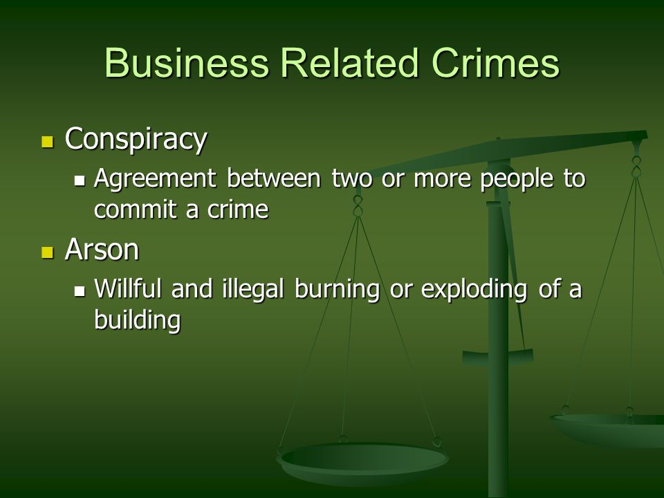 Business Related Crimes