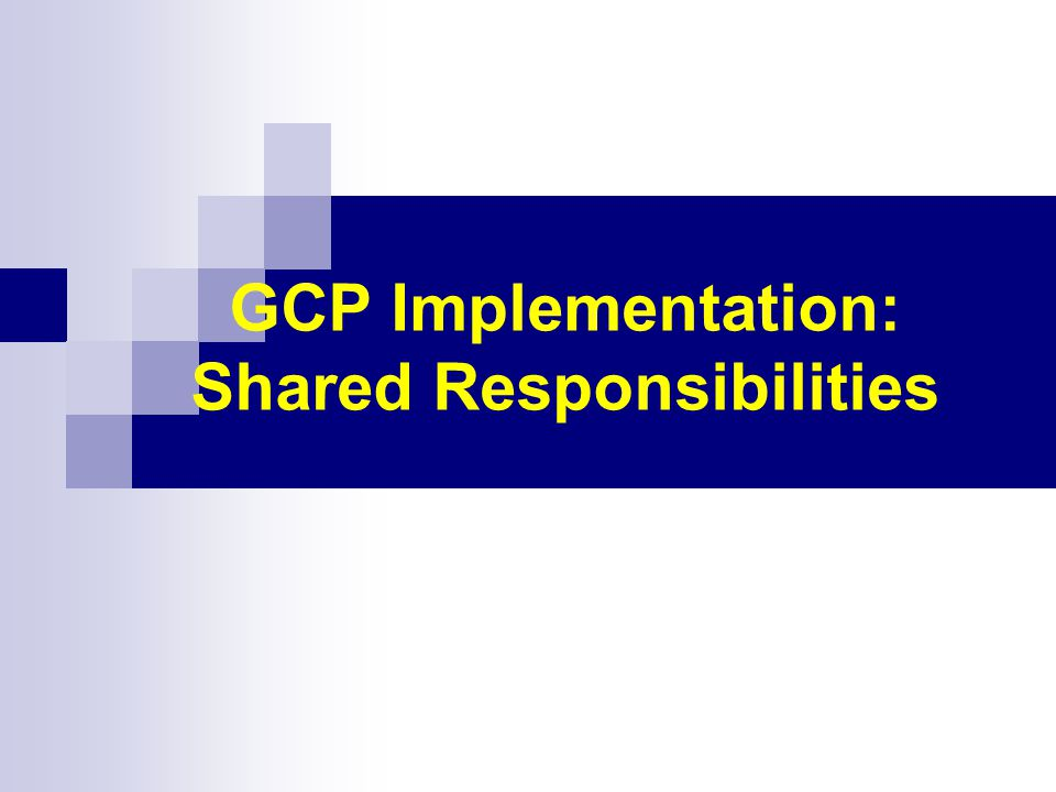 GCP Implementation: Shared Responsibilities