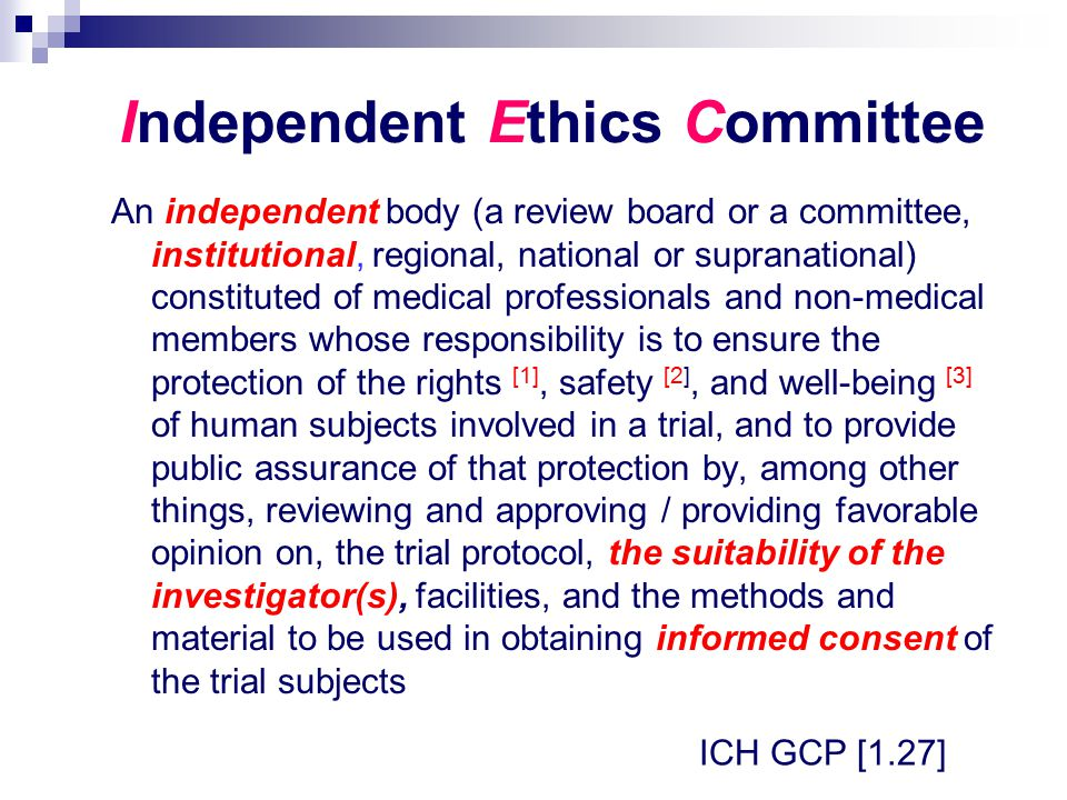 Independent Ethics Committee