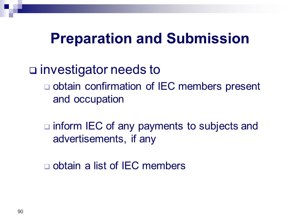 Preparation and Submission