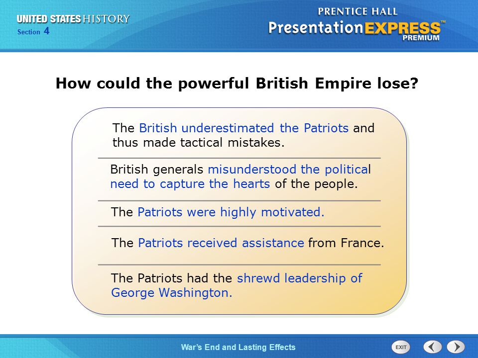 How could the powerful British Empire lose