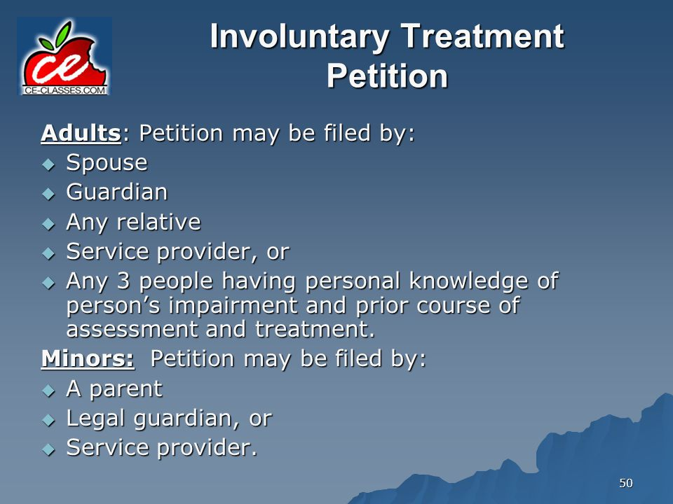 Involuntary Treatment Petition
