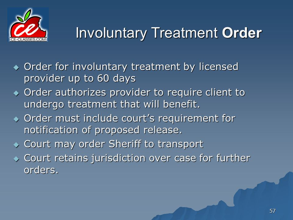 Involuntary Treatment Order