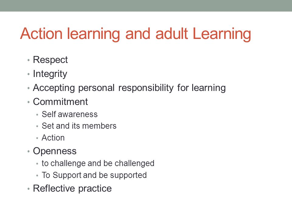 Action learning and adult Learning