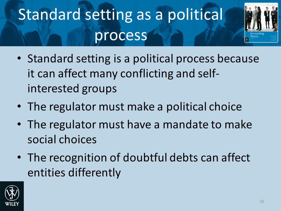 Standard setting as a political process