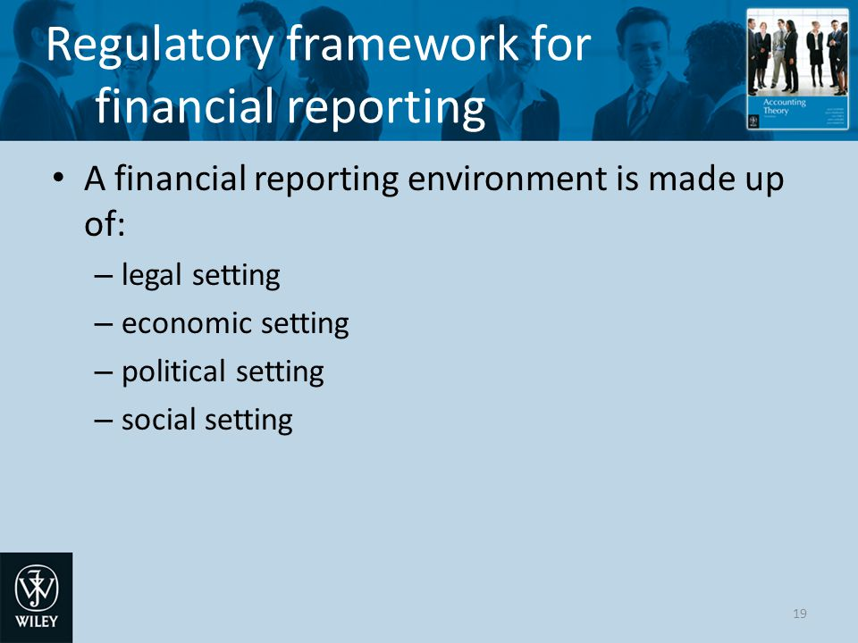 Regulatory framework for financial reporting