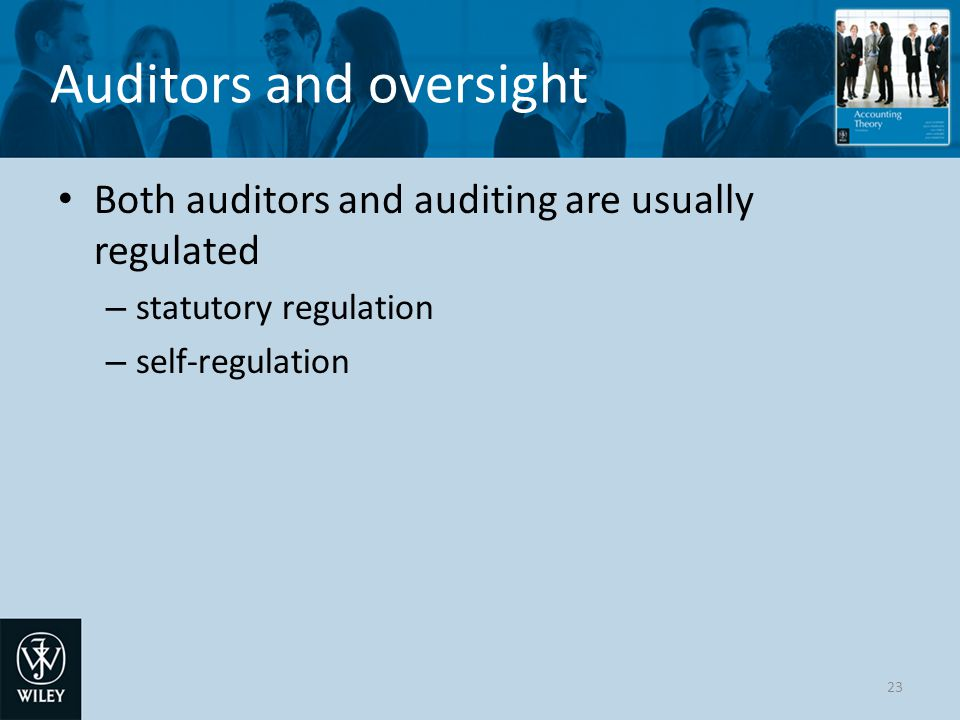 Auditors and oversight
