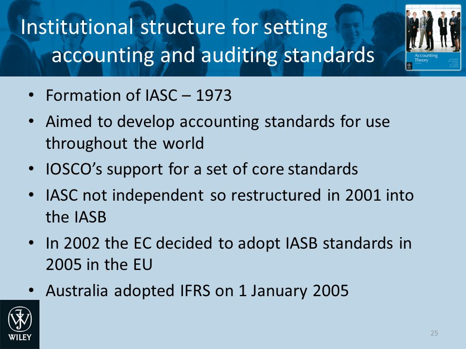 Institutional structure for setting accounting and auditing standards