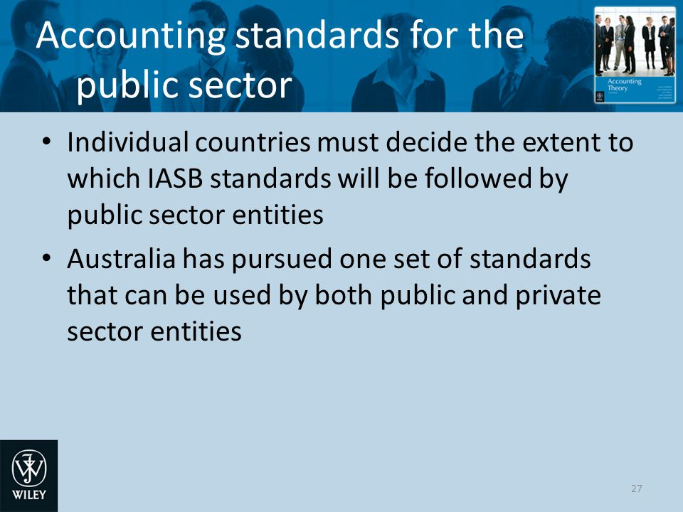 Accounting standards for the public sector