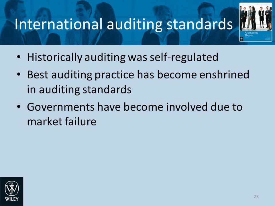International auditing standards