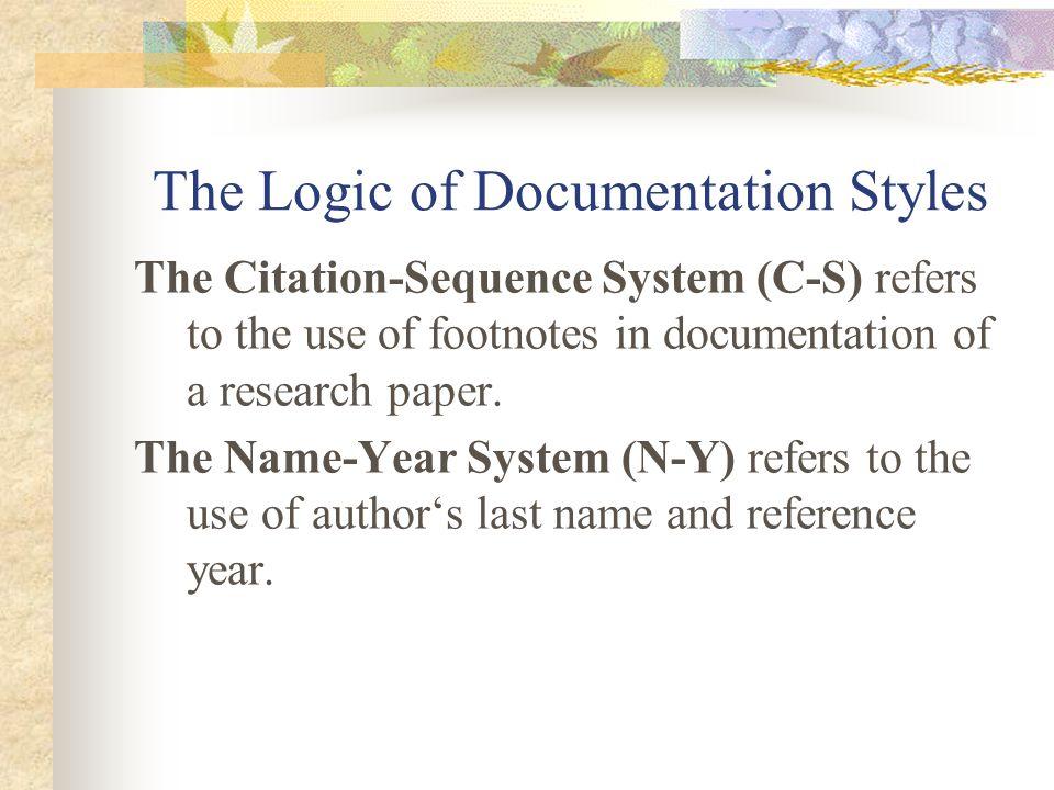 The Logic of Documentation Styles