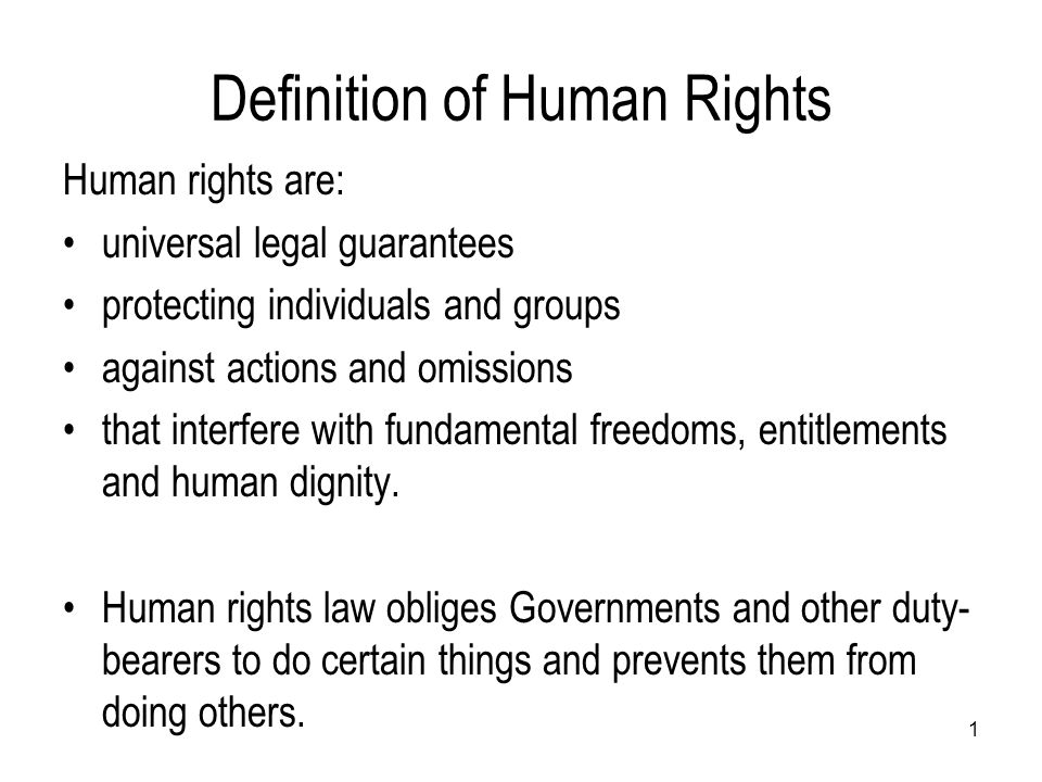 The rights espoused in the UN charter were codified and defined in a non-binding context within the International Bill of Human Rights, composing the Universal Declaration of Human Rights, the International Covenant on Civil and Political Rights and the International Covenant on Economic, Social and Cultural Rights.
