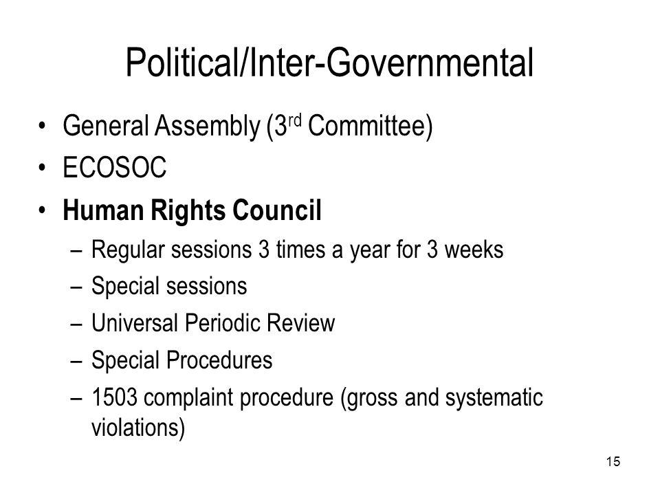 Political/Inter-Governmental