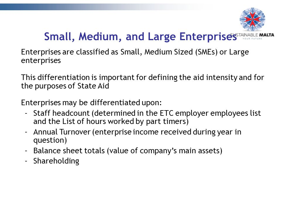 Small, Medium, and Large Enterprises