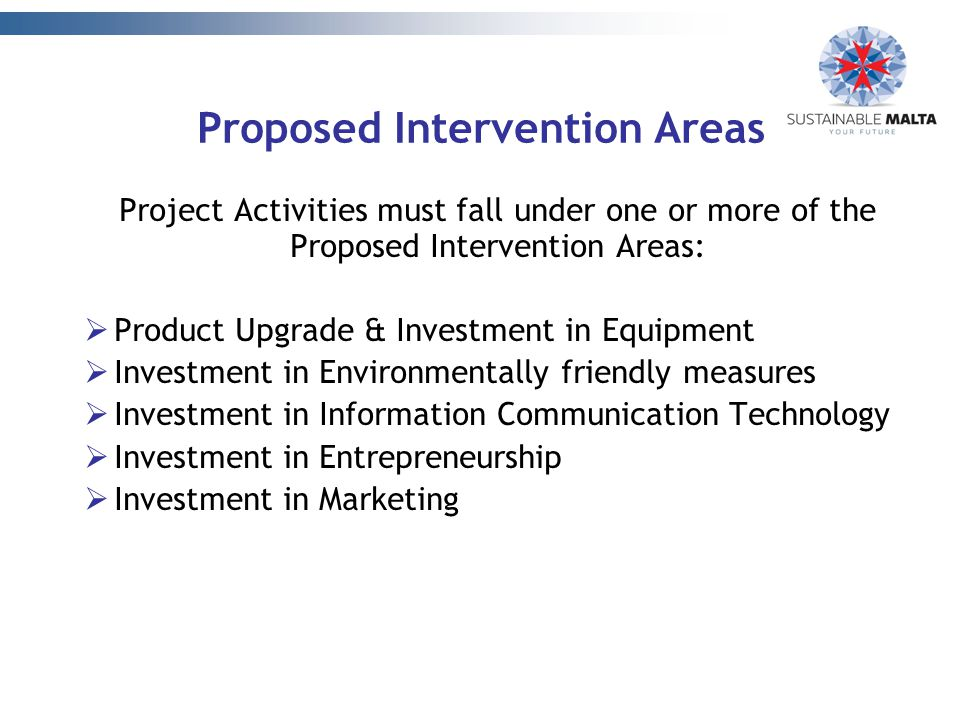 Proposed Intervention Areas