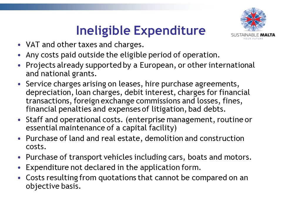 Ineligible Expenditure
