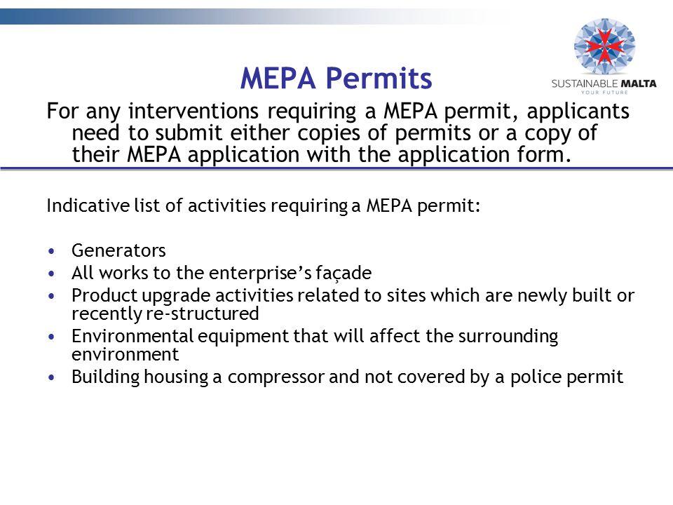 MEPA Permits