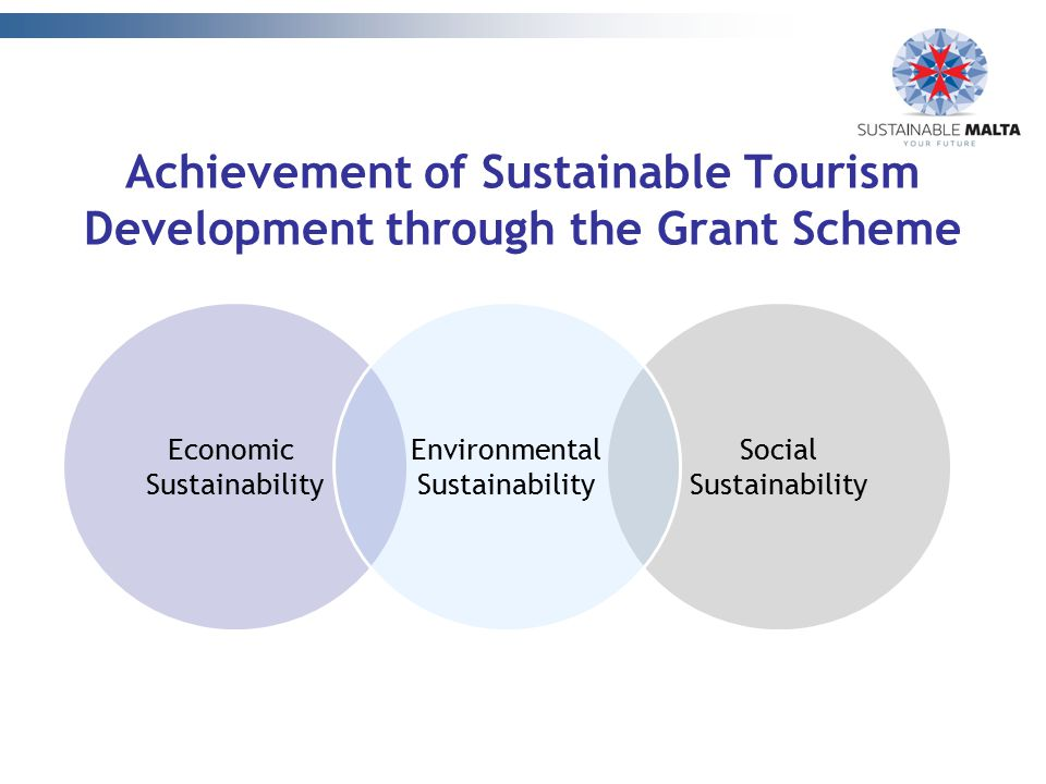 Achievement of Sustainable Tourism Development through the Grant Scheme