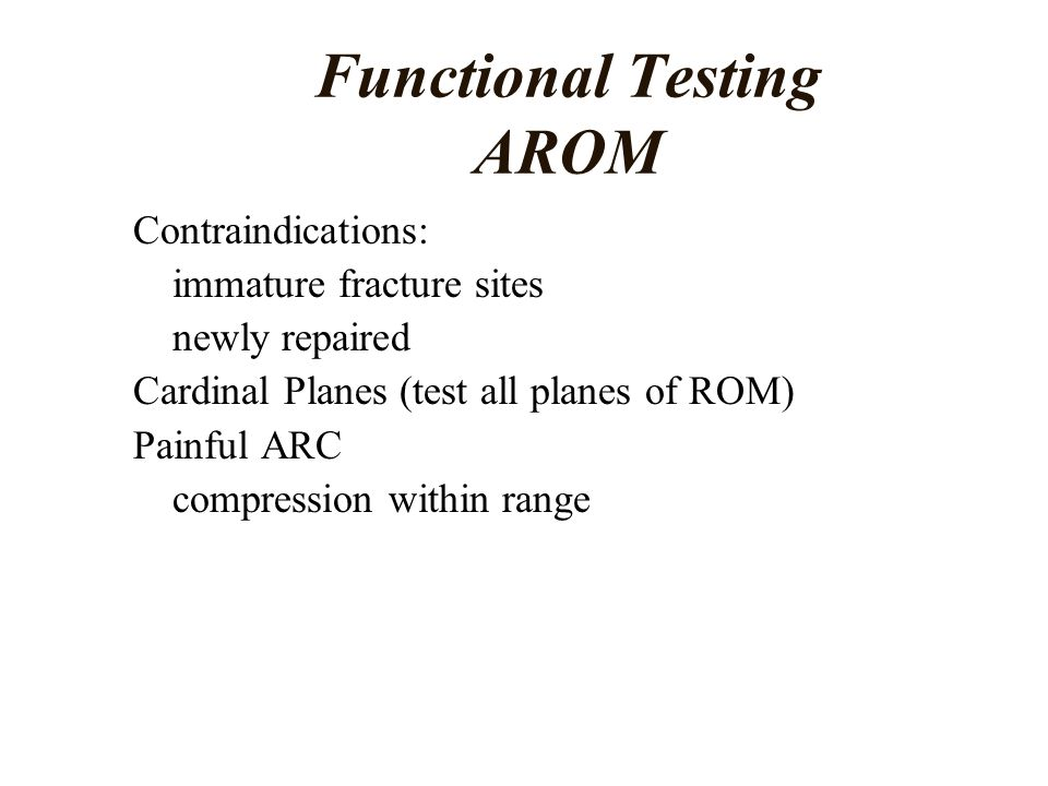 Functional Testing AROM