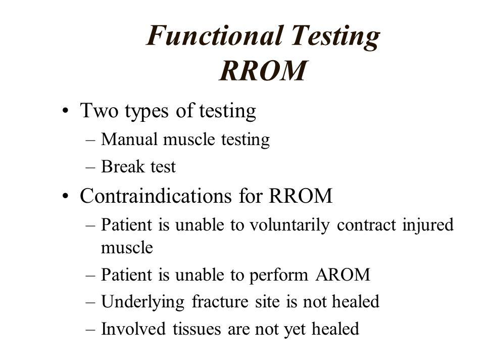 Functional Testing RROM
