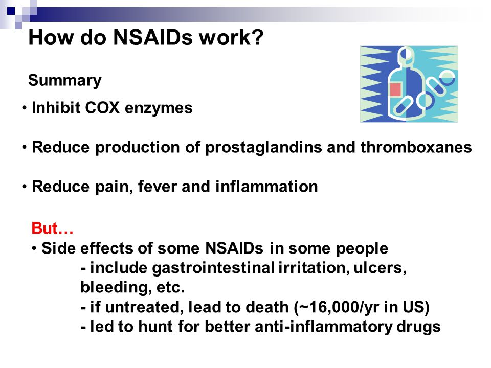 How do NSAIDs work Summary