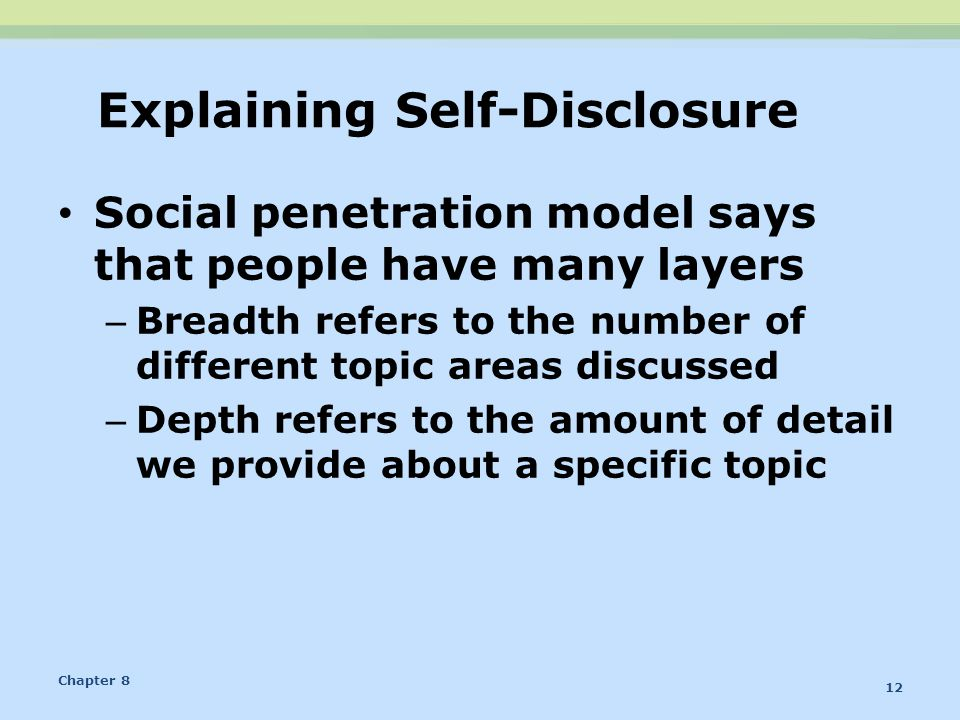 Explaining Self-Disclosure