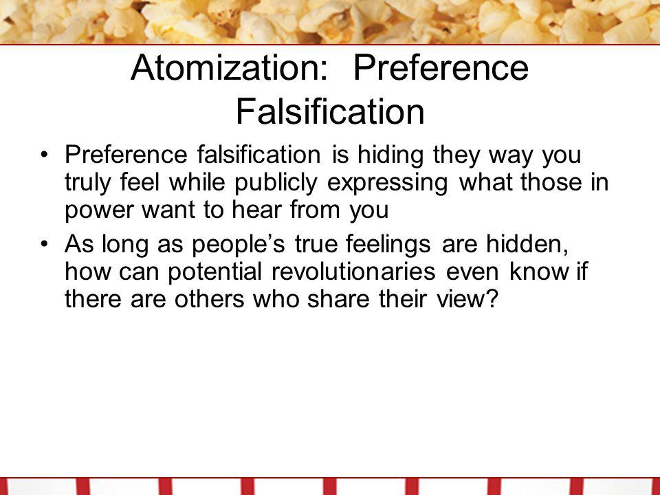 Atomization: Preference Falsification