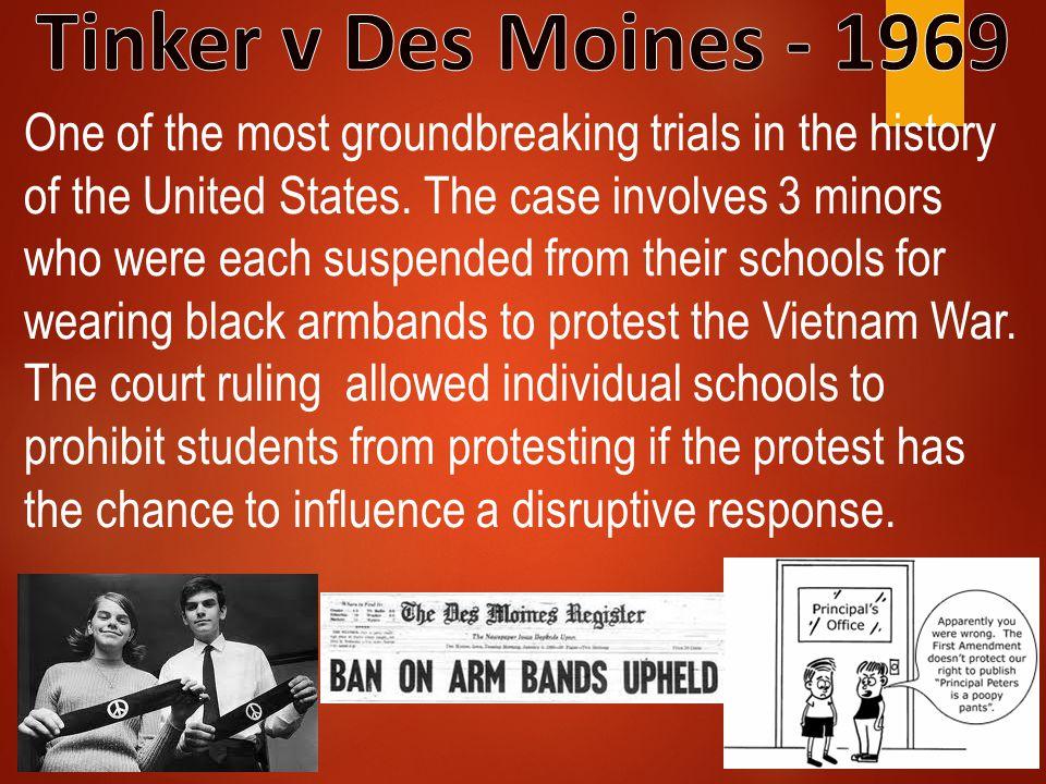 Tinker v Des Moines - 1969