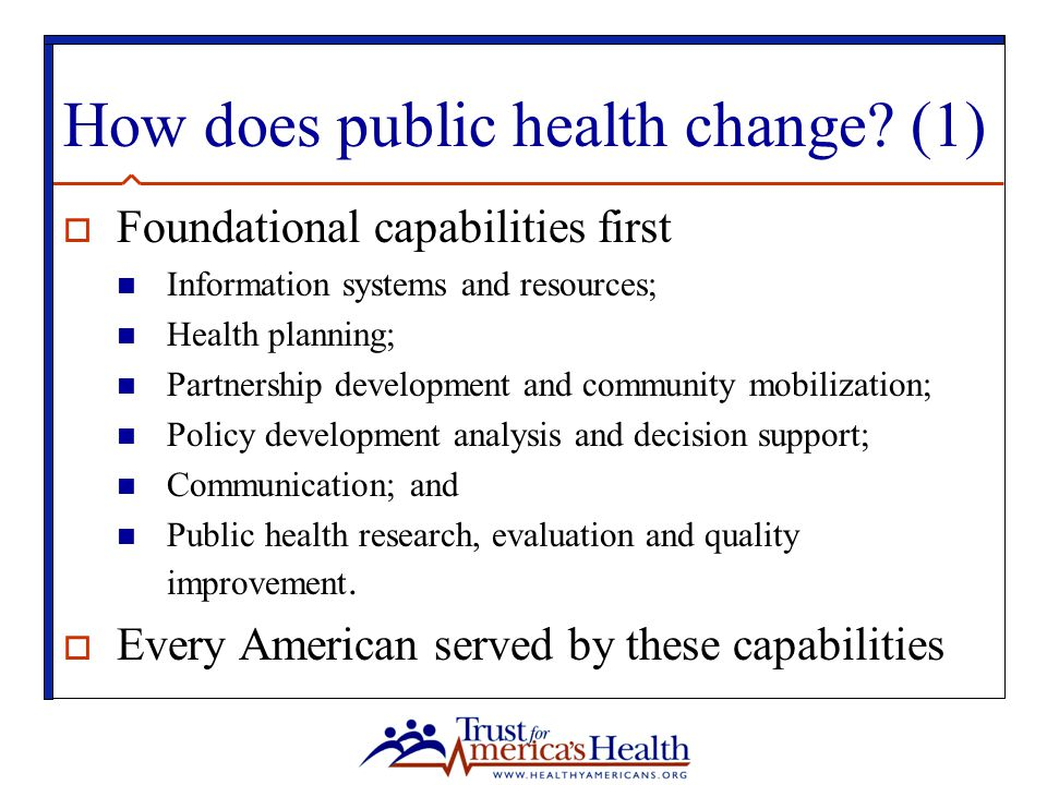 How does public health change (1)