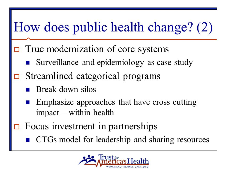 How does public health change (2)