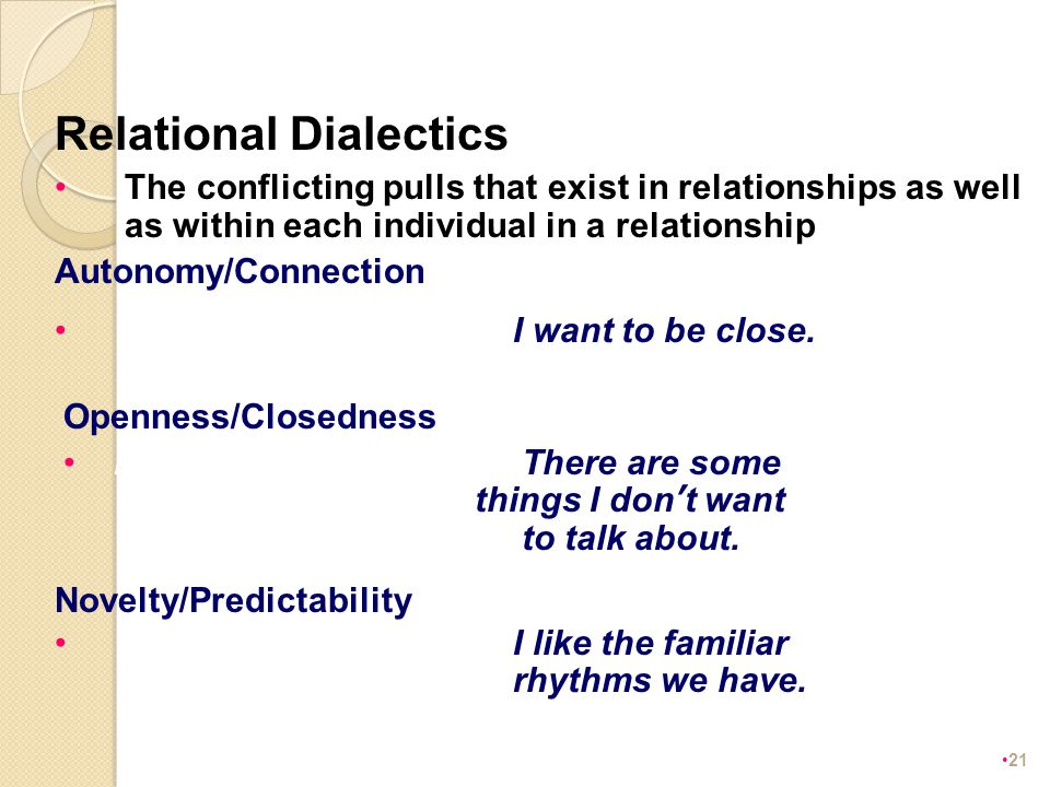 dialectical relationship definition of cheating