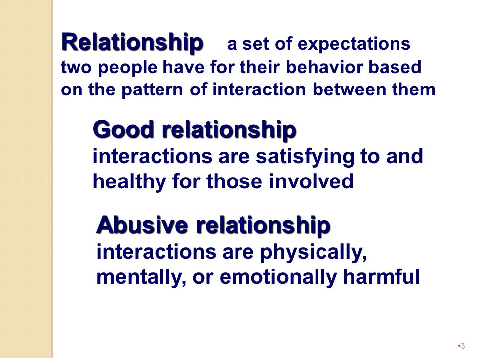 Abusive relationship –
