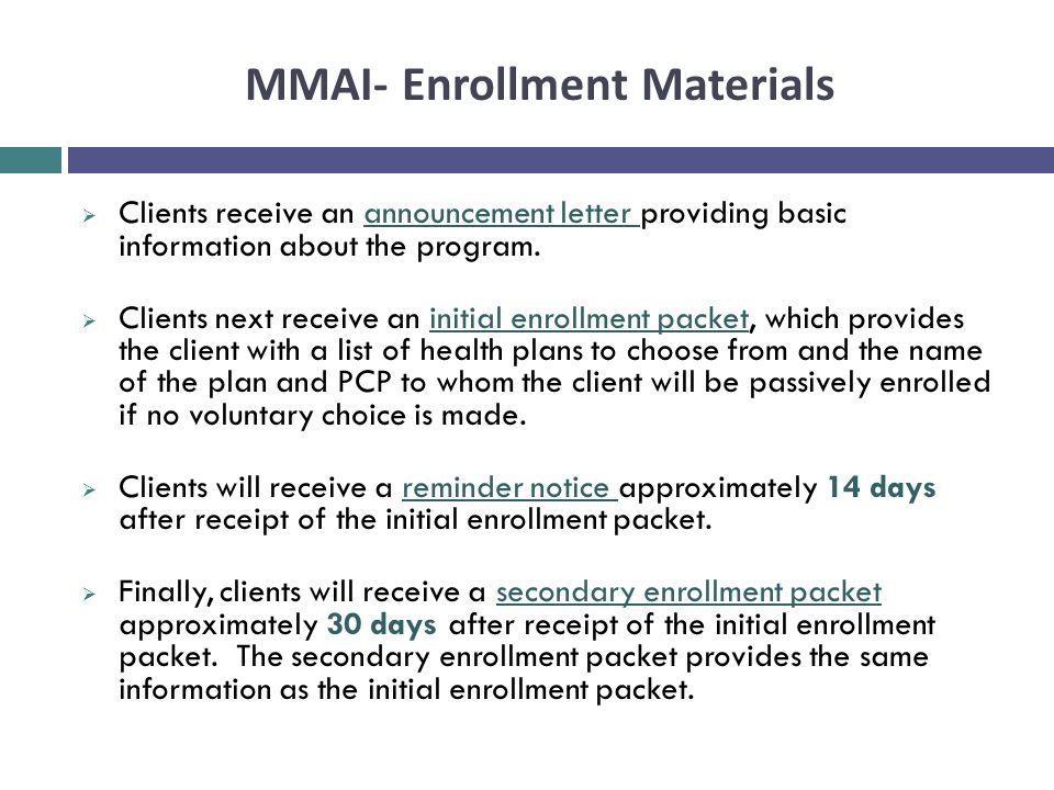 MMAI- Enrollment Materials