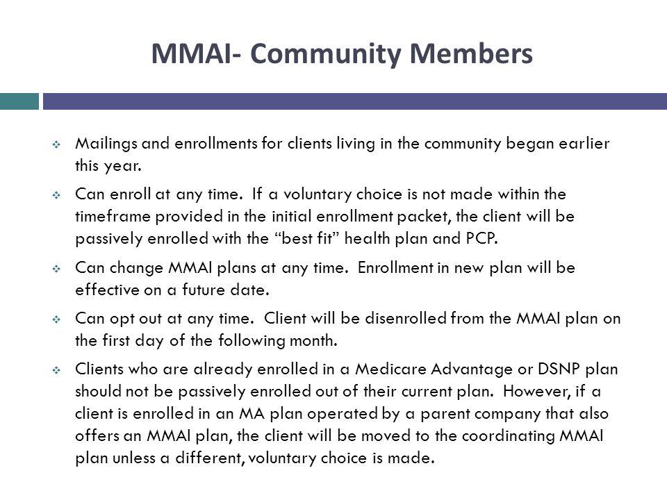 MMAI- Community Members