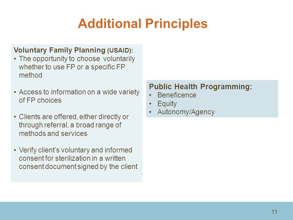 Additional Principles