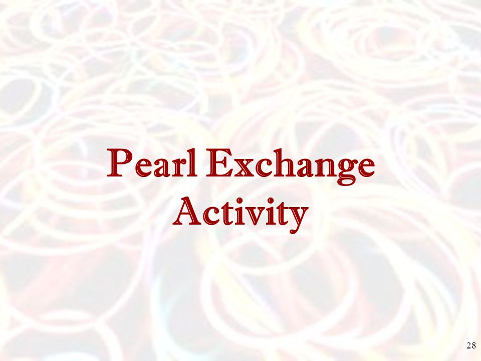 Pearl Exchange Activity