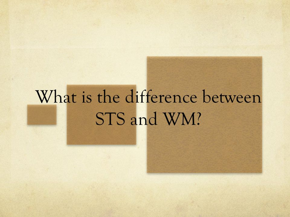 What is the difference between STS and WM