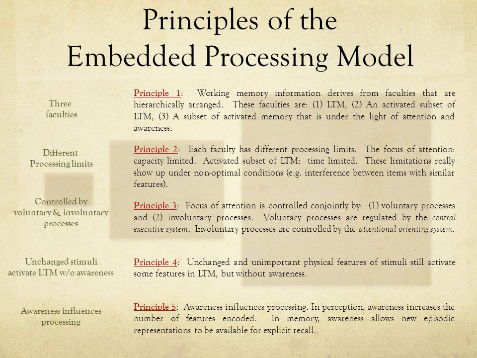 Principles of the Embedded Processing Model