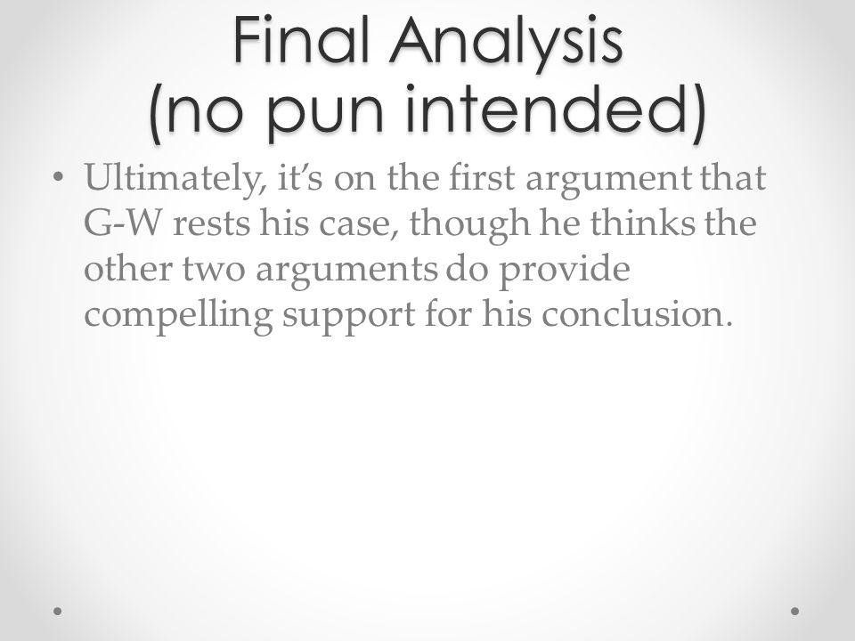 Final Analysis (no pun intended)