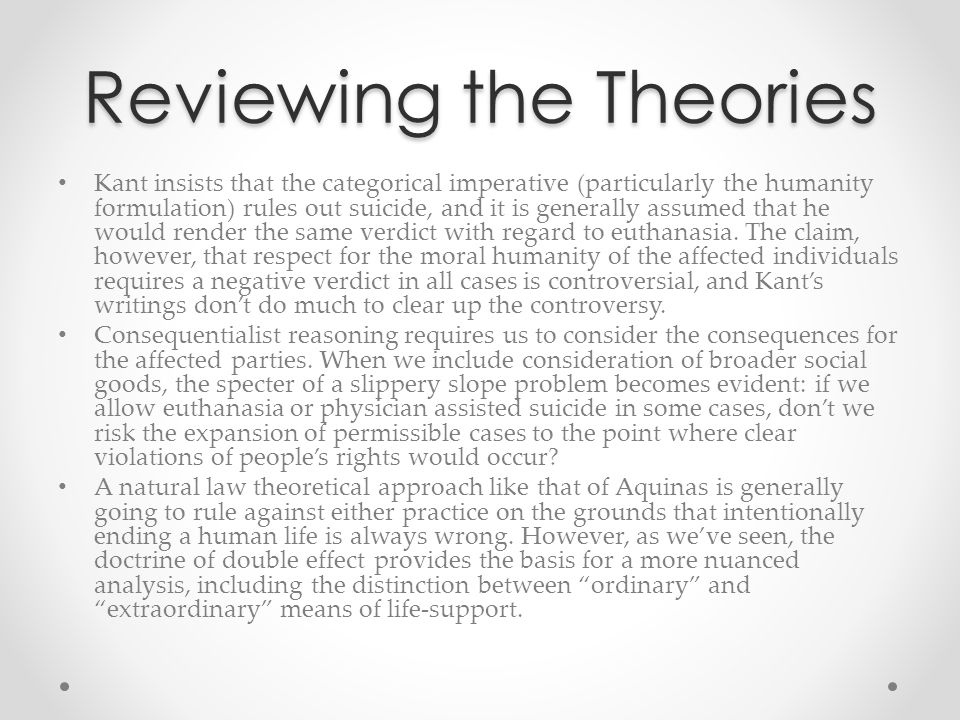 Reviewing the Theories