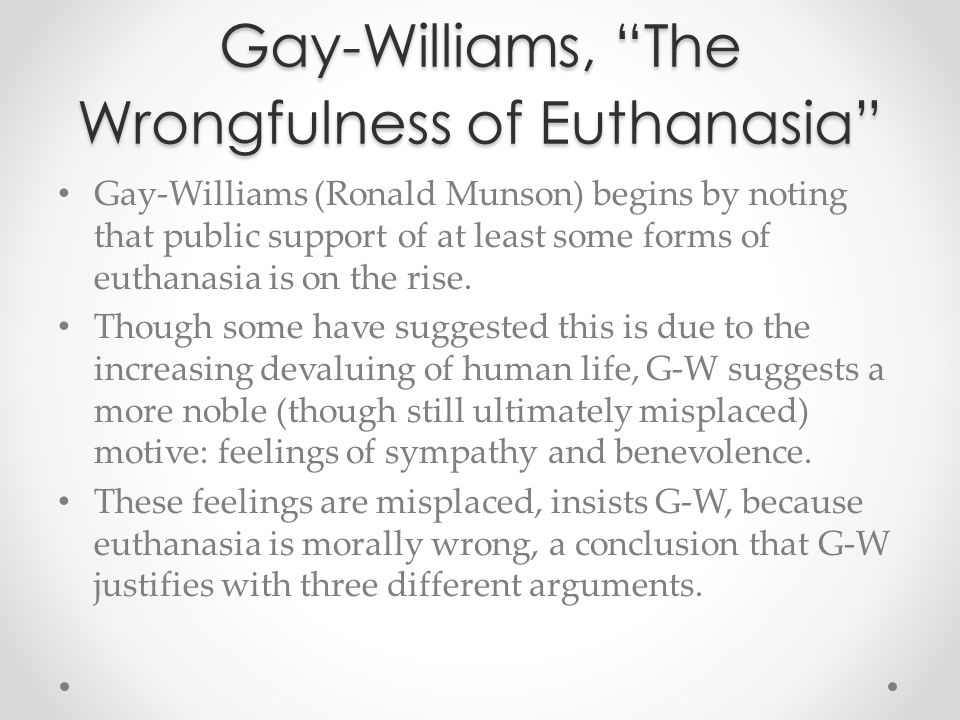 arguments against euthanasia essay