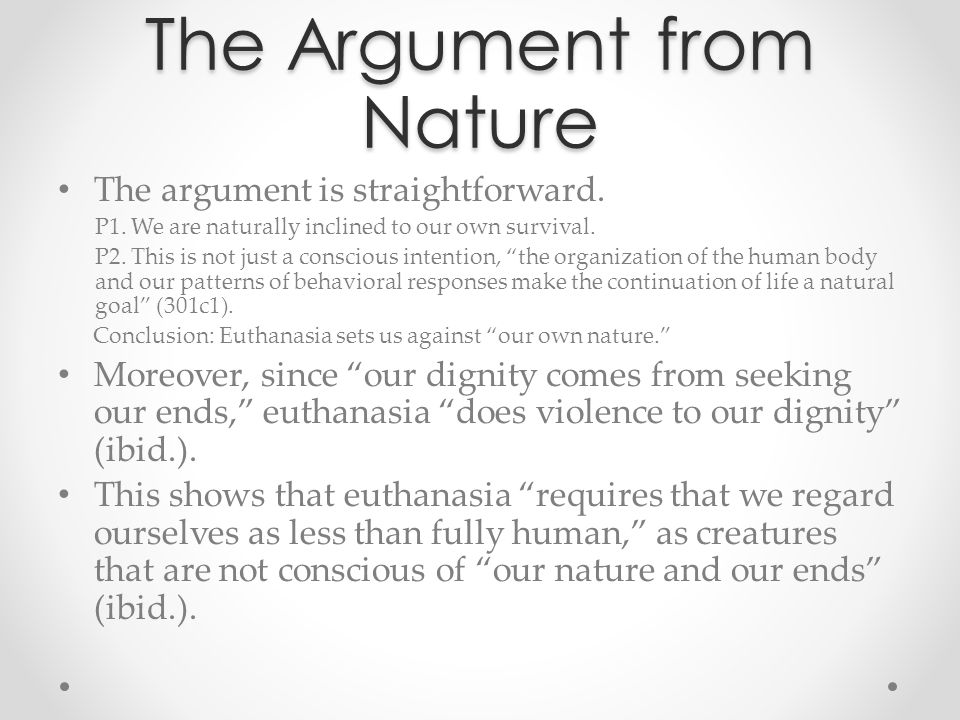 The Argument from Nature