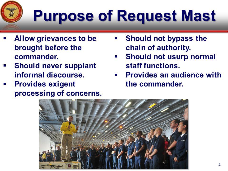Purpose of Request Mast