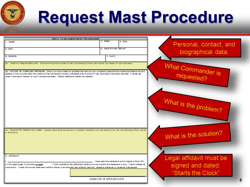 marine corps powerpoint template - usmc request mast form