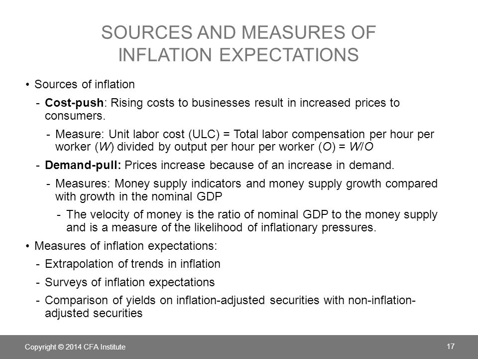 Sources and measures of inflation expectations