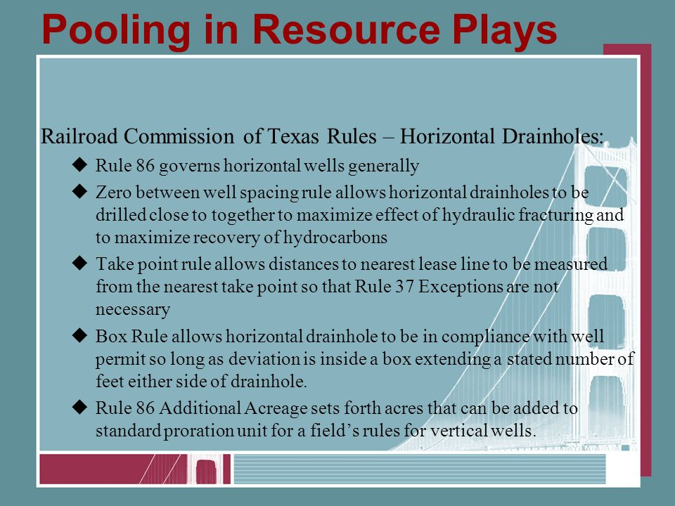Pooling in Resource Plays