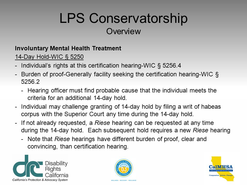 LPS Conservatorship Overview