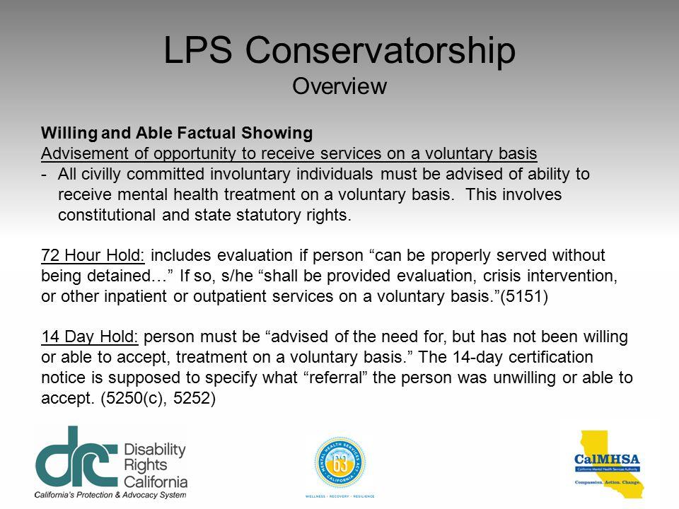 LPS Conservatorship Overview